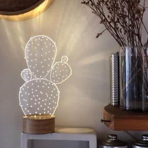 מנורת אווירה בצורת צבר