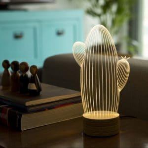 מנורת אווירה בצורת קקטוס